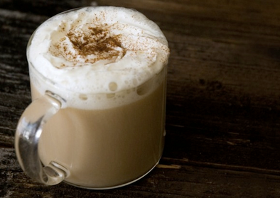Egg Nog Tea Latte