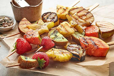 Grilled Fruits with Tea Syrup
