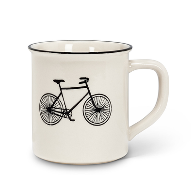 mug bicycle ivory