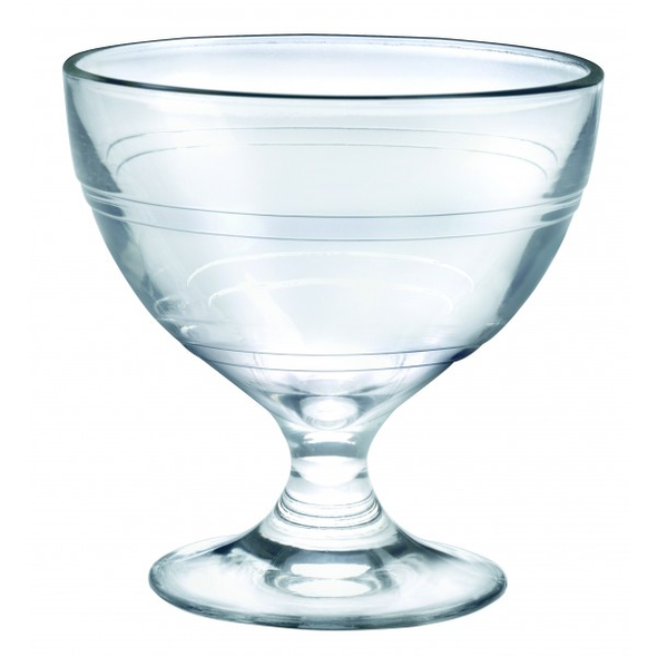 glass french coupe clear