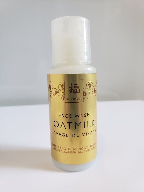 face wash, oatmilk