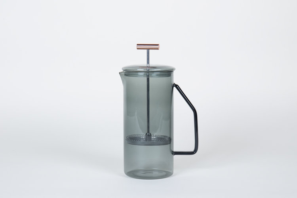tea press glass gray 850ml