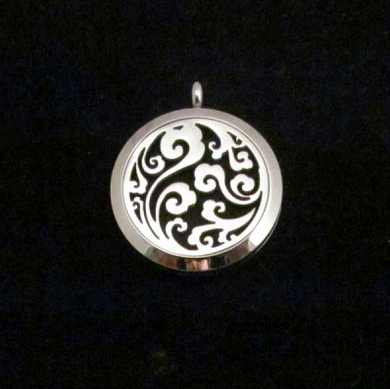 locket aromatherapy swirl