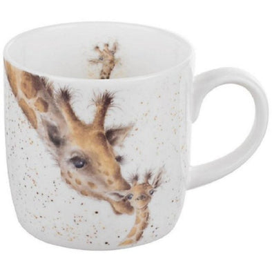 mug first kiss giraffe
