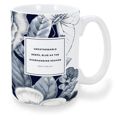 mug percy shelley - blue
