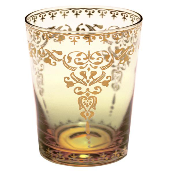 tumbler tangier amber w/gold decal