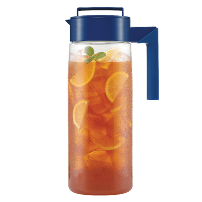 takeya flash chill iced tea maker blue
