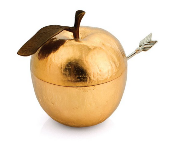 honey pot gold plate apple