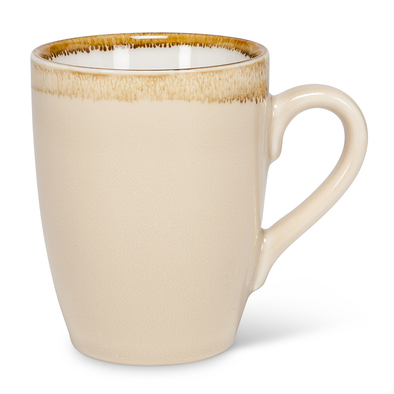 mug with rustic rim almond