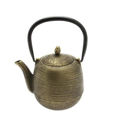 teapot cast iron jujube gold