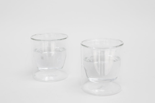 glass double-wall clear 6oz