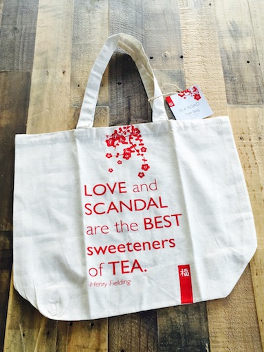 tote bag tea & scandal