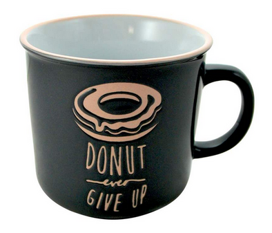 mug donut give up