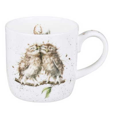 mug birds of a feather owls