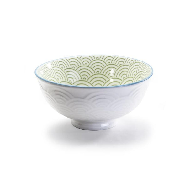 bowl wave green