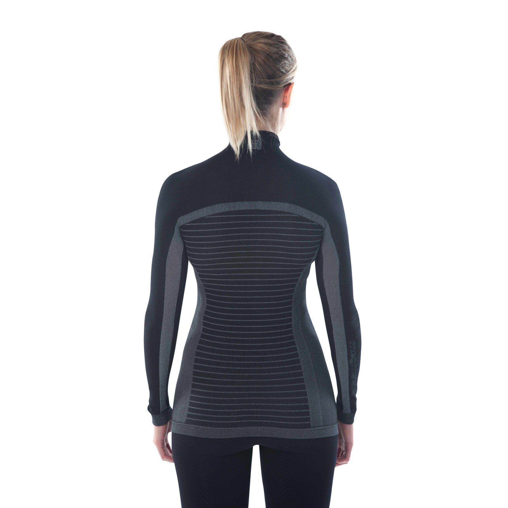 megmeister-womens-drynamo-high-neck-base-layer-black-back-view