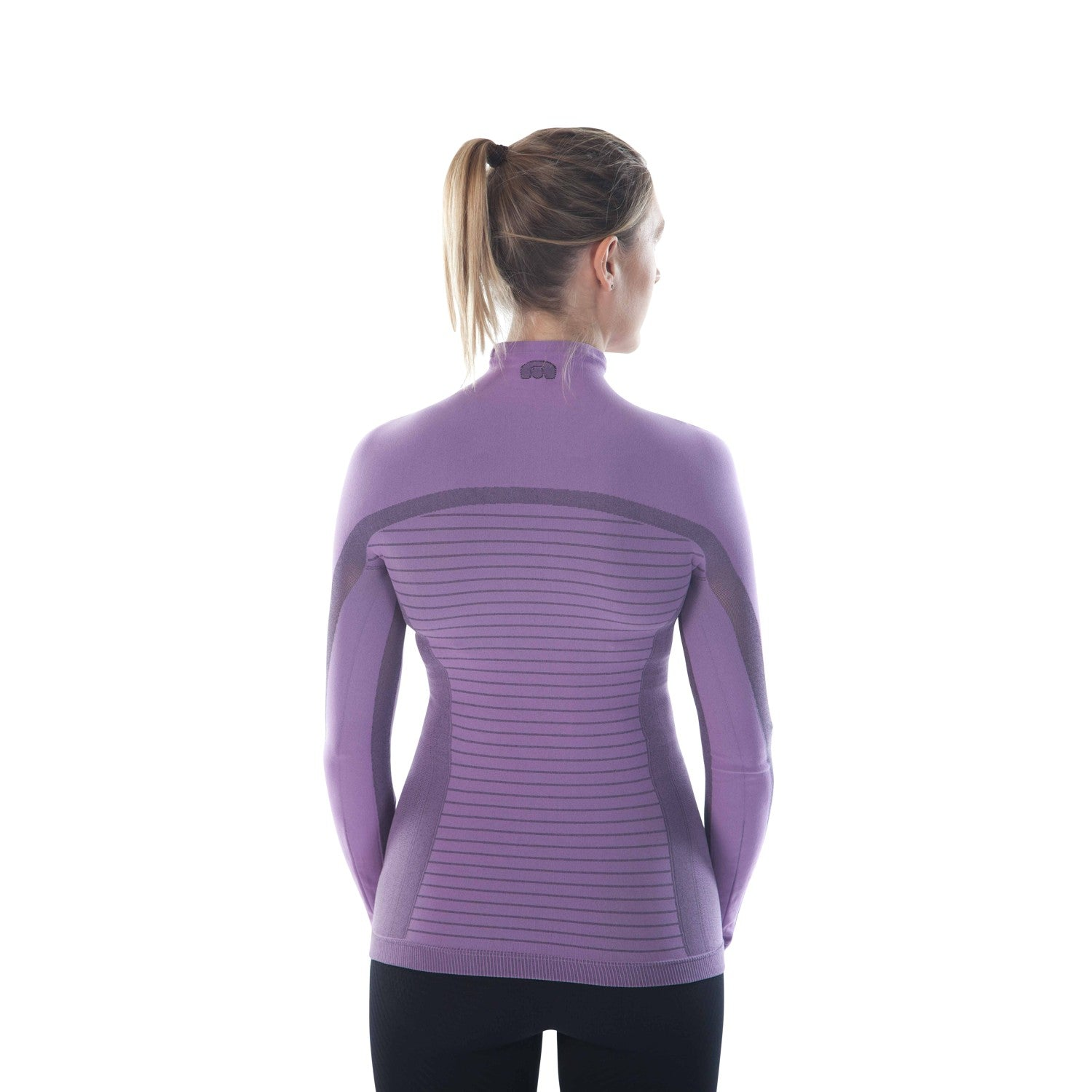 megmeister-womens-drynamo-high-neck-base-layer-lilac-back