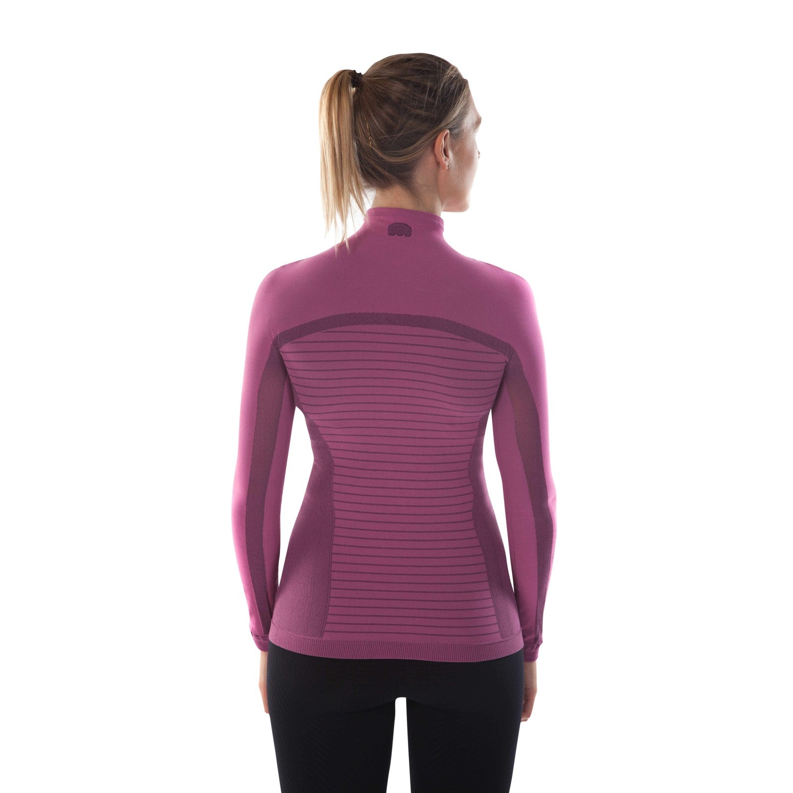 megmeister-womens-drynamo-high-neck-base-layer-purple-back