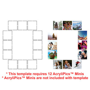 Photo Tiles, Acrylic Prints, Photo Wall Tiles, Wall Art, Wall Decor, Home Decor, Photo Prints, Numbers - AcryliPics™ Minis Templates - PicFoams.com