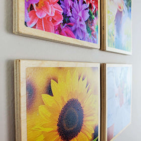 *Special Deal* 10 Pack of 4x4 EcoWoodPics™ Wood Photo Tiles Slim with Border