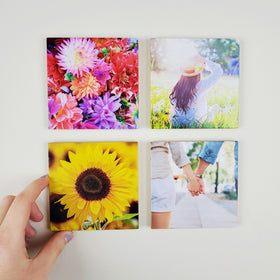 4x4 EcoWoodPics™ Wood Photo Tiles Slim Full Print