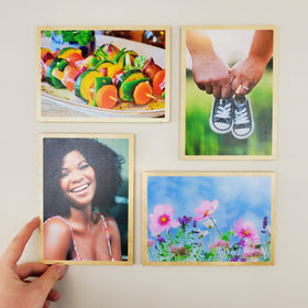 5x7 EcoWoodPics™ Wood Photo Tiles Slim with Border