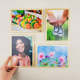 5x7 EcoWoodPics™ Wood Photo Tiles Thick with Border