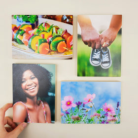 5x7 EcoWoodPics™ Wood Photo Tiles Thick Full Print