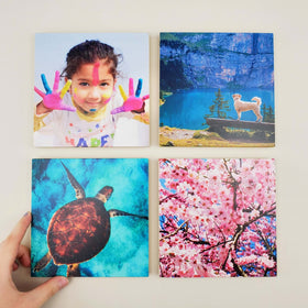 6x6 EcoWoodPics™ Wood Photo Tiles Thick Full Print
