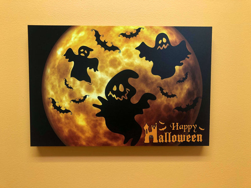 Photo Tiles, Acrylic Prints, Photo Wall Tiles, Wall Art, Wall Decor, Home Decor, Photo Prints, Happy Halloween Ghosts PicFoams™ - PicFoams.com