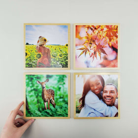 8x8 EcoWoodPics™ Wood Photo Tiles Slim with Border