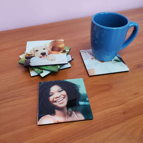 AcryliPics™ Acrylic Photo Coasters Square 4x4 - Set of 6