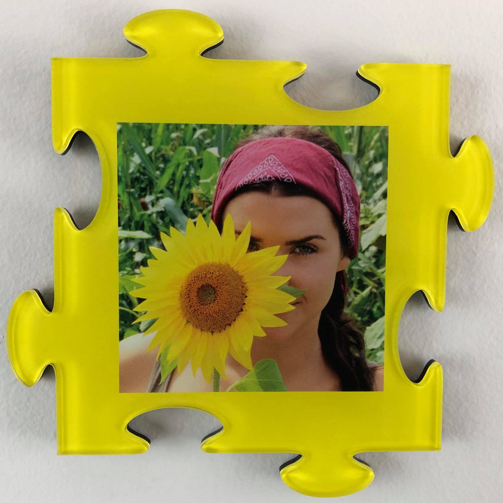 Photo Tiles, Acrylic Prints, Photo Wall Tiles, Wall Art, Wall Decor, Home Decor, Photo Prints, 4x4 AcryliPics™ Yellow Wall Puzzle Photo Tiles - PicFoams.com