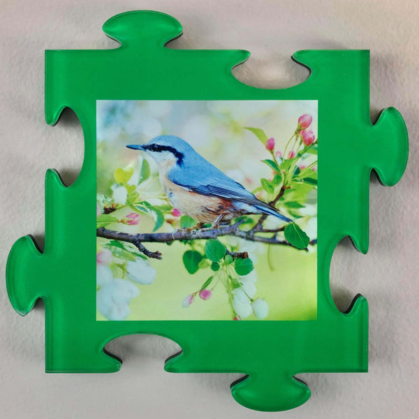 Photo Tiles, Acrylic Prints, Photo Wall Tiles, Wall Art, Wall Decor, Home Decor, Photo Prints, 4x4 AcryliPics™ Green Wall Puzzle Photo Tiles - PicFoams.com