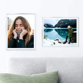 AcryliClears™ Clear Acrylic Glass Photo Tiles - 11x14 - with Sawtooth Hanger