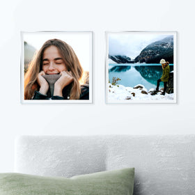 AcryliClears™ Clear Acrylic Glass Photo Tiles - 12x12 - with Sawtooth Hanger