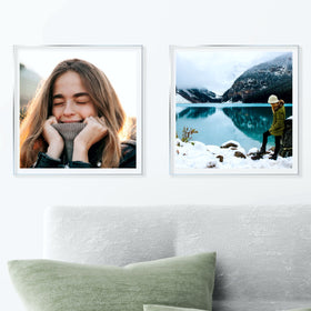 AcryliClears™ Clear Acrylic Glass Photo Tiles - 15x15 - with Sawtooth Hanger