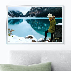 AcryliClears™ Clear Acrylic Glass Photo Tiles - 15x23 - with Sawtooth Hanger
