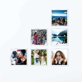 AcryliClears™ Clear Acrylic Glass Photo Tiles - 3x3