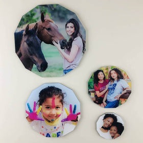 AcryliPics™ 12-Sided Dodecagon Acrylic Photo Tiles
