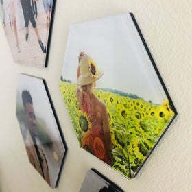 AcryliPics™ Hexagon Acrylic Photo Tiles
