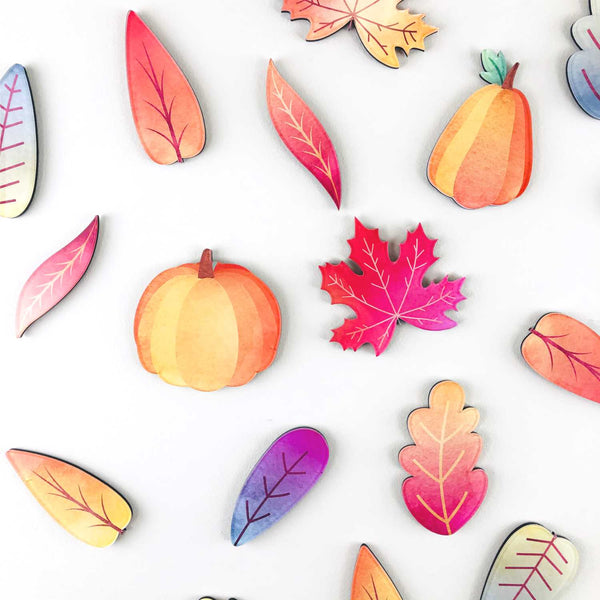 18-Piece Acrylic Autumn Wall Decor Kit