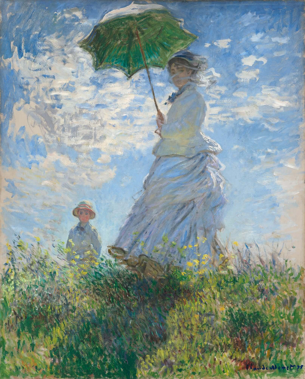 Photo Tiles, Acrylic Prints, Photo Wall Tiles, Wall Art, Wall Decor, Home Decor, Photo Prints, Claude Monet, Woman with a Parasol, Madame Monet and Her Son, 1875 - PicFoams.com