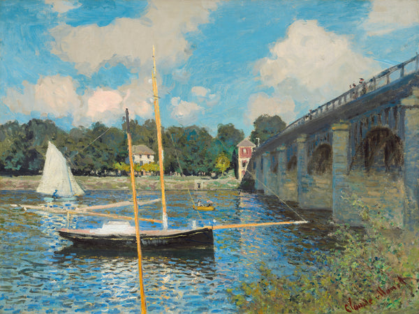 Photo Tiles, Acrylic Prints, Photo Wall Tiles, Wall Art, Wall Decor, Home Decor, Photo Prints, Claude Monet, The Bridge at Argenteuil, 1874 - PicFoams.com