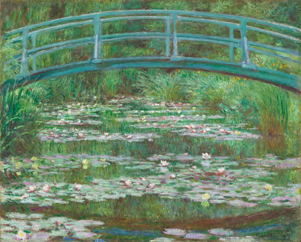 Photo Tiles, Acrylic Prints, Photo Wall Tiles, Wall Art, Wall Decor, Home Decor, Photo Prints, Claude Monet, The Japanese Footbridge, 1899 - PicFoams.com