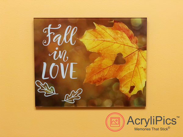 Photo Tiles, Acrylic Prints, Photo Wall Tiles, Wall Art, Wall Decor, Home Decor, Photo Prints, Fall in Love AcryliPics™ - PicFoams.com