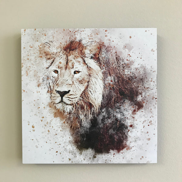 Photo Tiles, Acrylic Prints, Photo Wall Tiles, Wall Art, Wall Decor, Home Decor, Photo Prints, Smokey Lion - PicFoams.com