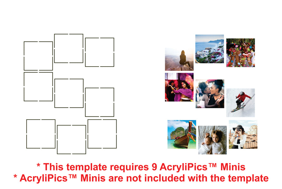 Photo Tiles, Acrylic Prints, Photo Wall Tiles, Wall Art, Wall Decor, Home Decor, Photo Prints, Letters - AcryliPics™ Minis Templates - PicFoams.com