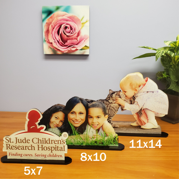 8x10 AcryliCuts™ Custom Photo Statuettes - Vertical or Horizontal