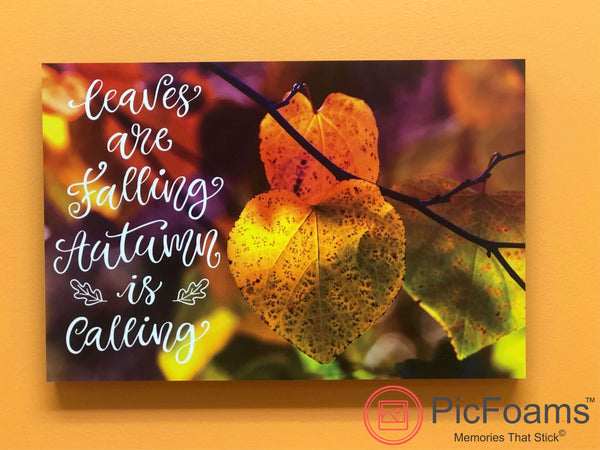 Photo Tiles, Acrylic Prints, Photo Wall Tiles, Wall Art, Wall Decor, Home Decor, Photo Prints, Leaves are Falling, Autumn is Calling PicFoams™ - PicFoams.com